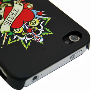 "Ed Hardy Tattoo Backplate For iPhone 4 ""True"" - Black"