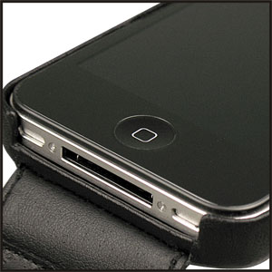 Noreve Tradition A Leather Case for iPhone 4 - Black
