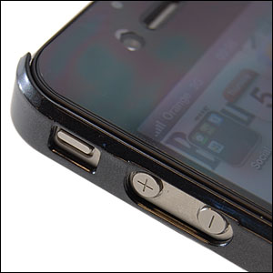 Hard Candy Bubble Slider For iPhone 4 - Black