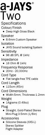 a-Jays Two Heavy Bass Impact Earphones