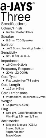 a-Jays Three Heavy Bass Impact Earphones
