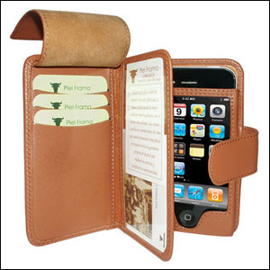 Piel Frama Leather Wallet Case for Apple iPhone 4 - Brown
