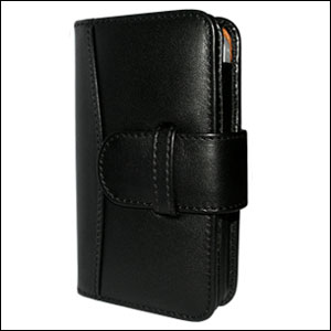 Piel Frama Leather Wallet Case for Apple iPhone 4 - Black