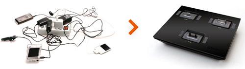 Idapt I4 Universal Desktop Charger - Black