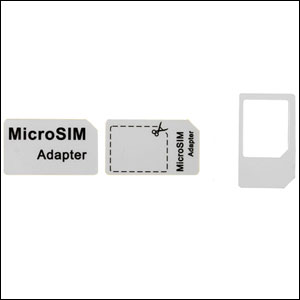 Convert your micro sim card into a normal sized sim