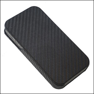 iPhone 4 Flip Case - Carbon
