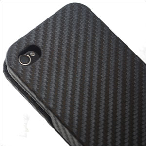 iPhone 4 Flip Case - Carbon