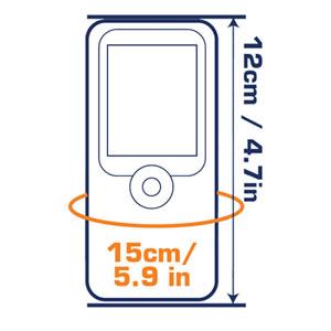 OverBoard Small Waterproof Phone Case - Black