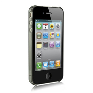 PowerSupport Air Jacket For iPhone 4 - Clear Black