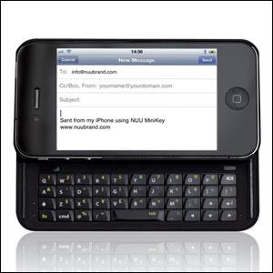 Nuu Mini-Key Keyboard Case for iPhone 4