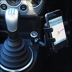 TrailBlazer Gooseneck Universal Car Charger and Holder