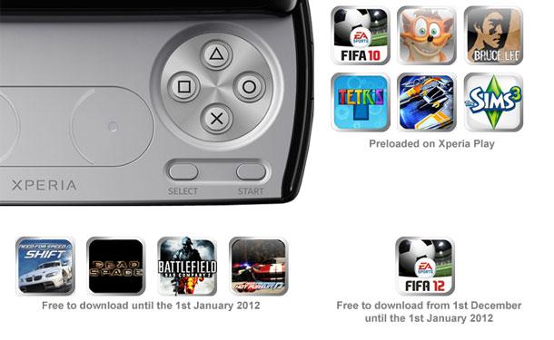 Sony Ericsson Xperia Play Games