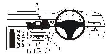 Support de fixation ProClip Brodit – BMW 318-330/E90/E91/E92 05-09