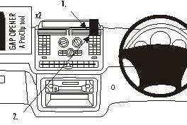 Brodit ProClip Console Mount - Mercedes Benz V-Class/Vito 04-11