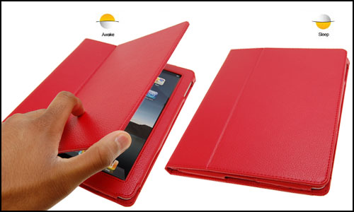 SD Tabletware Stand and Type iPad 2 Case - Red