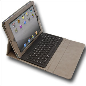 KeyCase iPad 2 Folio Deluxe with Bluetooth Keyboard - Black