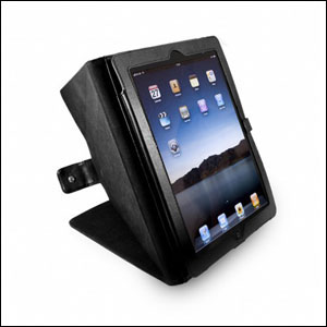 Tuff-Luv Tri-Axis Stasis Series: Veggie Case and stand for Apple iPad 3 / iPad 2  - Black