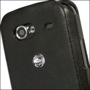 Housse cuir Google Nexus S Noreve Tradition A - Noire - Logo