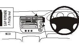 Brodit ProClip Centre Mount - Honda Civic 01-05