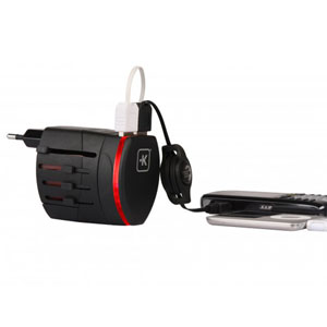 Skross World Travel Adaptor with Twin USB