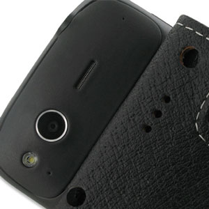 PDair Leather Flip Case - HTC Desire S