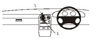 Brodit ProClip Center Mount  - Mazda MX-5 89-93
