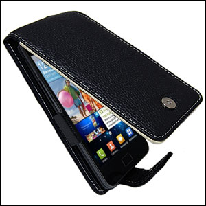 Samsung Galaxy S2 Alu-Leather Case - Black