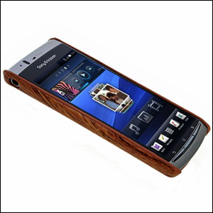 Sony Ericsson XPERIA Arc Wood Design Hard Case - Dark Wood