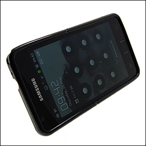 Samsung Galaxy S2 Hard Case With Stand - Black/Clear