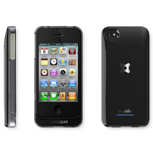 ExoGear Exolife Rechargeable Battery Case for iPhone 4