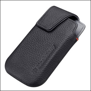 BlackBerry Bold 9900 Leather Swivel Holster - Pitch Black - ACC-38855-201