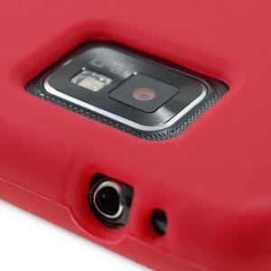 Silikonhülle für Samsung Galaxy S2 in Rot