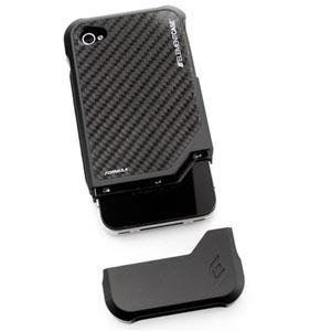 ElementCASE Formula 4 Case for iPhone 4 - Black with Carbon Fibre Back