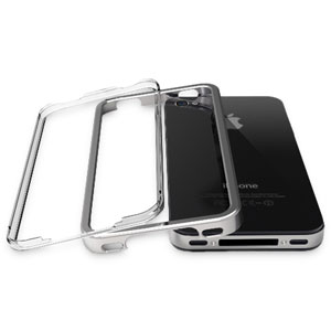 Pinlo United Aluminium Edge Case for iPhone 4 - Silver