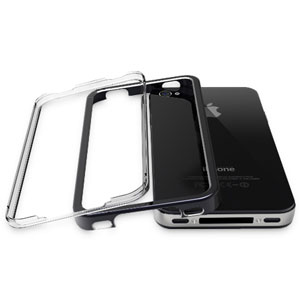 Pinlo United Aluminium Edge Case for iPhone 4 - Black