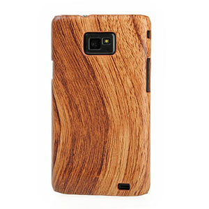 Samsung Galaxy S 2 Wood Design Hard Case - Light Wood