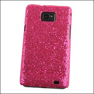 Samsung Galaxy S2 Glitter Fibre Case - Pink