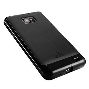 SGP Neo Hybrid Case for Samsung Galaxy S2 - Black/Black