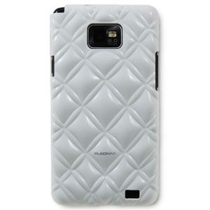 Samsung Pleomax Bling Bling Case for Galaxy S2 - White