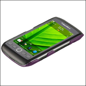 BlackBerry Original Hard Shell for Torch 9860 Twin Pack - ACC-42903-201 - Black/Royal Purple