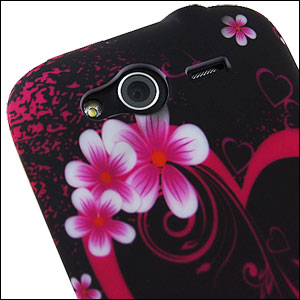Hearts and flowers case for htc wildfire s