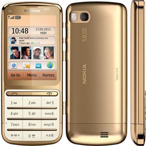 Sim Free Nokia C3 01 - 18 Carat Gold Edition