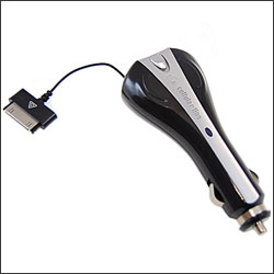 Cellular Line Retractable Car Charger with USB port - Apple Devices