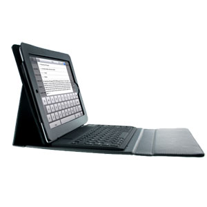 eKit iPad 3 / iPad 2 Folio Deluxe with Bluetooth Keyboard - Black