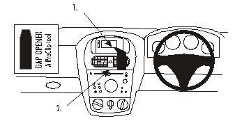 Brodit ProClip Centre Mount - Vauxhall Corsa 01-06
