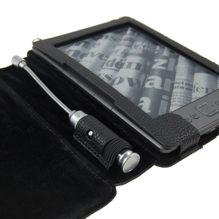 Vinyl Case with Light for Amazon Kindle - Black