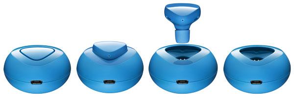 Cyan Nokia Luna Bluetooth Headset