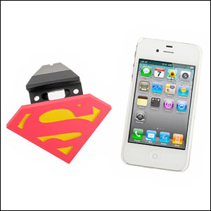 Superhero Protective Back Cover And Dock For iPhone 4/4S - Superman