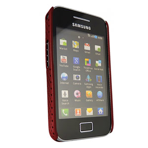 Samsung Galaxy Ace Mesh Vent Case - Red