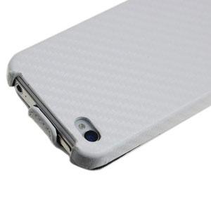 SlimLine iPhone 4S und 4 Ledertasche im Flip Design in Weiß
